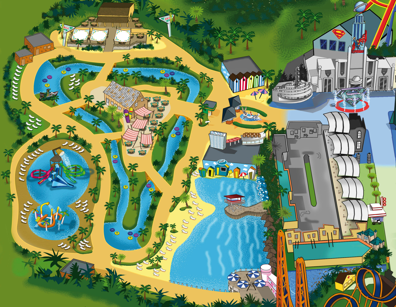 Mapa parque warner beach