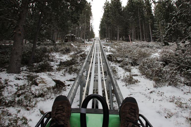 Paisaje nevado en Tobotronc